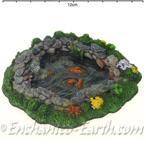 Vivid Arts Miniature World Mini Rock Pond With Koi Fairy